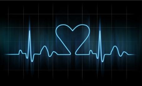 Lovers heart cardiogram